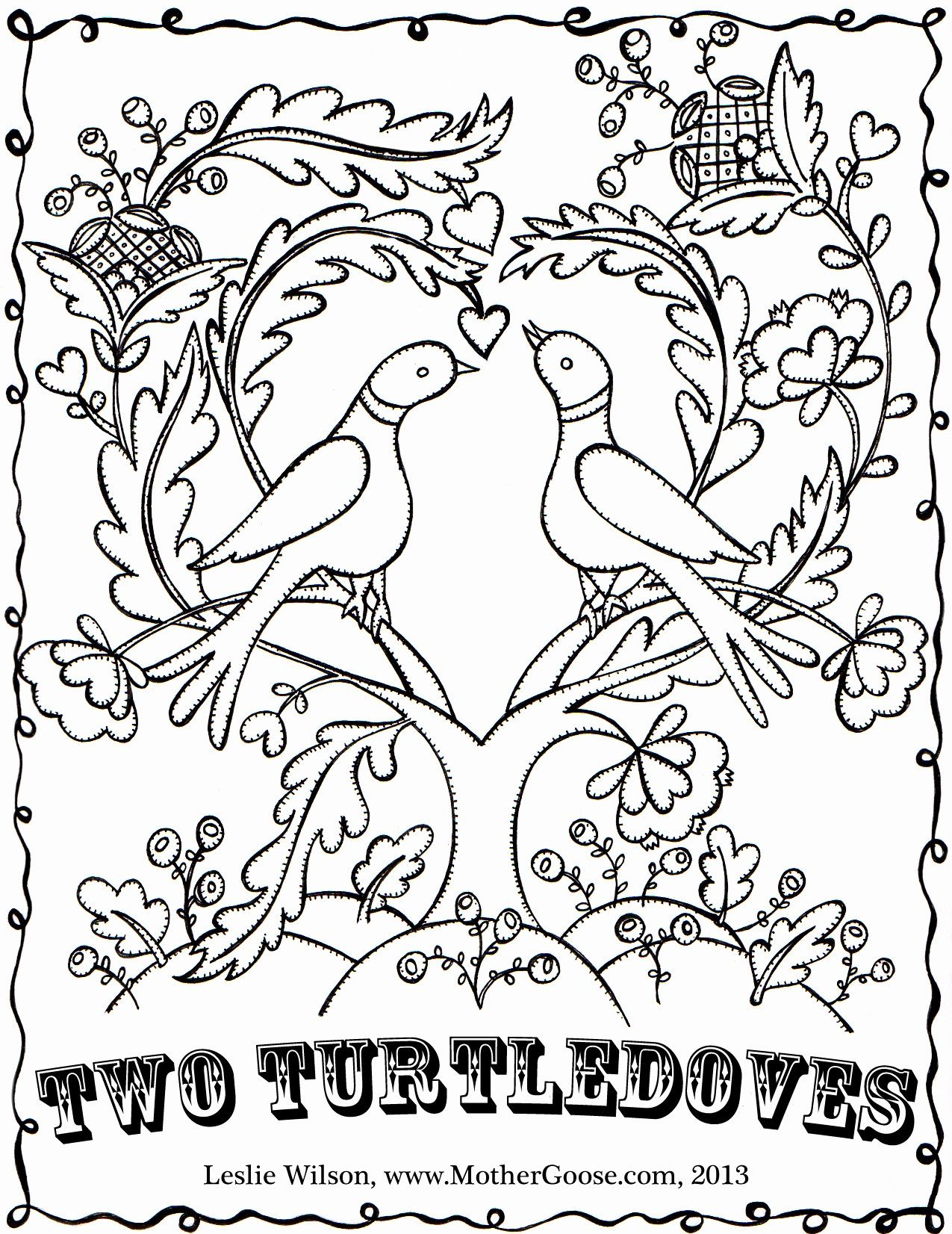 Two Turtle Doves Coloring Page Youngandtae Com Turtle Coloring Pages Coloring Pages Ninja Turtle Coloring Pages
