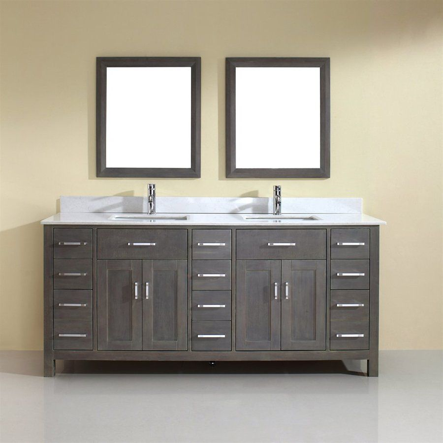 Spa Bathe Kenzie French Gray Undermount Double Sink Bathroom