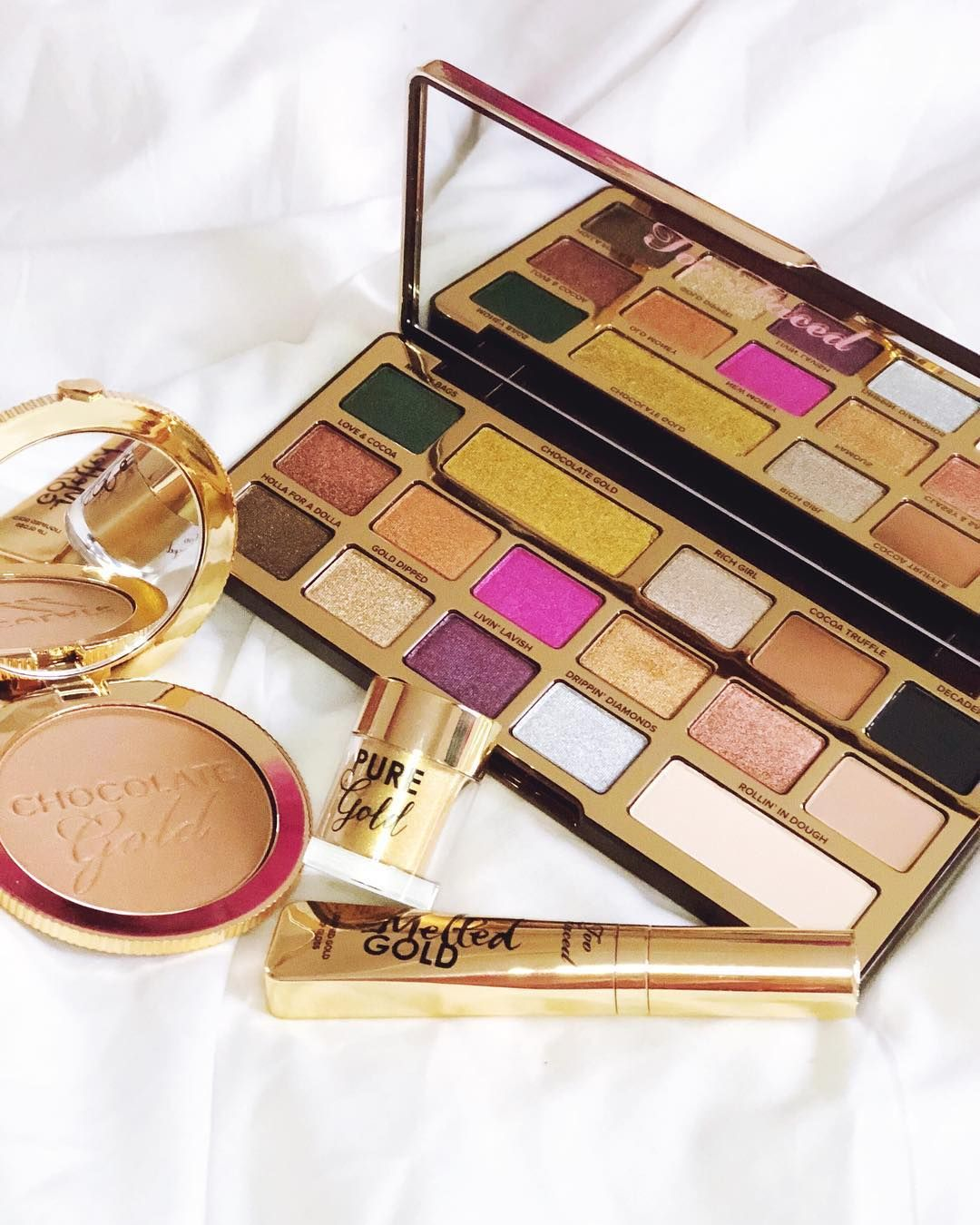 Favorite palette at the moment Chocolate Gold by TooFaced