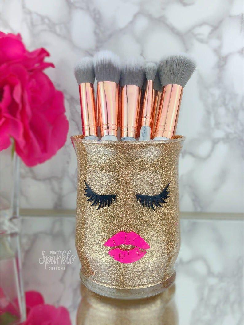 Makeup brush holder makeup artist gift makeup vanity