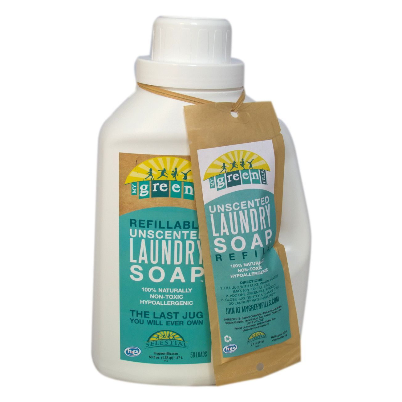 Refillable Laundry Soap Combo Pack Natural Laundry Detergent
