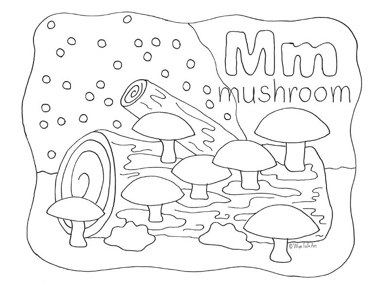 Enjoy Your Free Nature Alphabet Coloring Page Letter M Visit