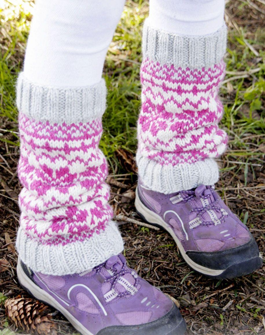 Baby Dance Leg warmers with Norwegian pattern fair isle Kids socks ...