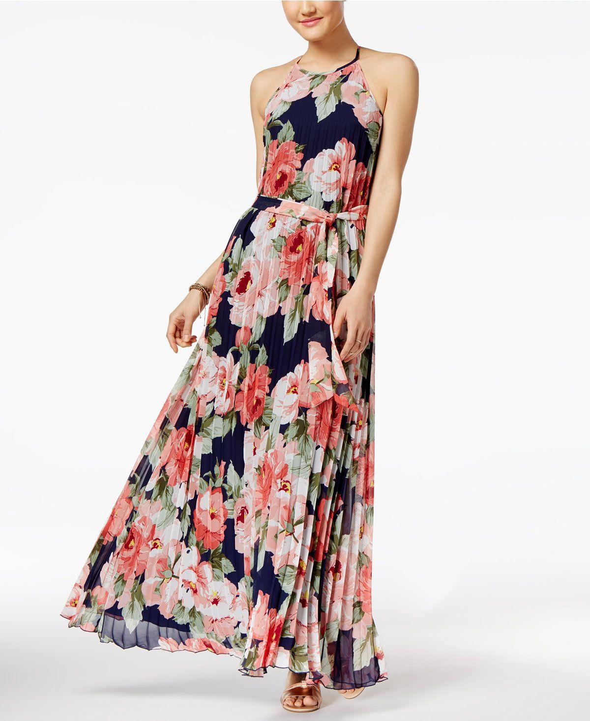 4ba89a9ef6 B Darlin Juniors' Pleated Maxi Dress - Juniors Dresses - Macy's ...