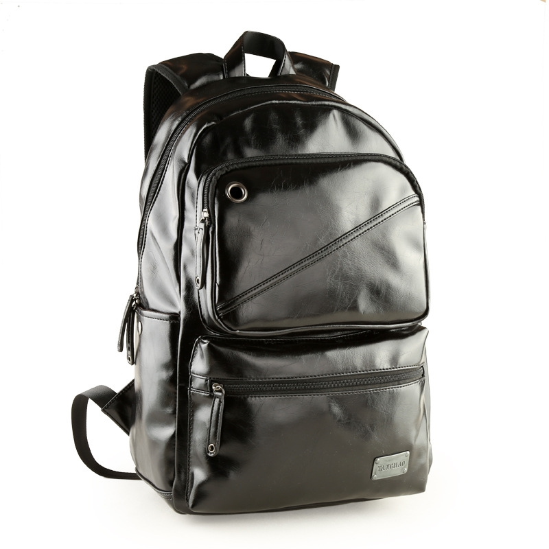 31.56$  Know more - http://ai4ei.worlditems.win/all/product.php?id=32692247657 - 2016 Hot Sale Oil Wax Leather Backpack Men's Casual Backpack & Travel Bags Western College Style Backpacks Mochila Zip Men