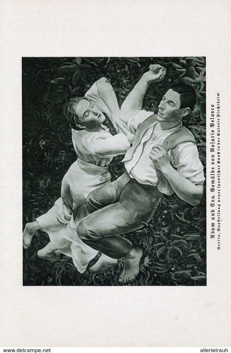 Adam Und Eva Nach Einem Gemalde Von Rosaria Belasso Druck Entnommen Aus Zeitschrift 1933 Artikelnummer 679897444 Adam Und Eva Einfache Gemalde Zeitschriften