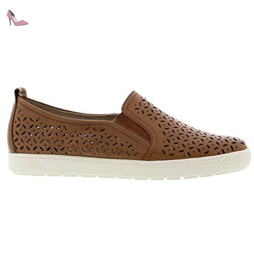 Caprice Womens 24552 Brown Leather Shoes 41 EU - Chaussures caprice (*Partner-Link)