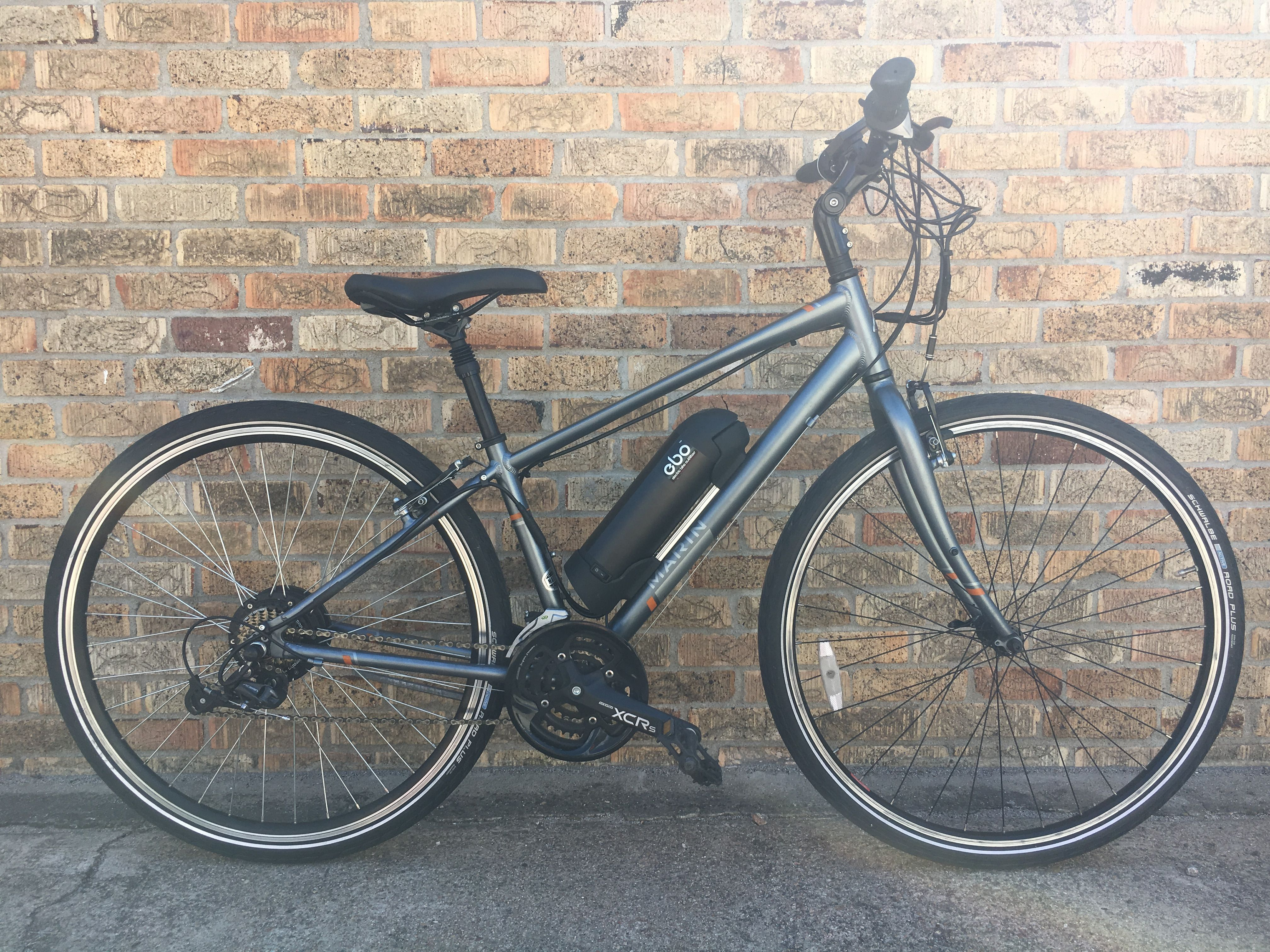 Ebo Phantom Electric Bike Kit Installed On A Marin Larkspur Cs3 Electric Bike Kits Electric Bike Bike Kit