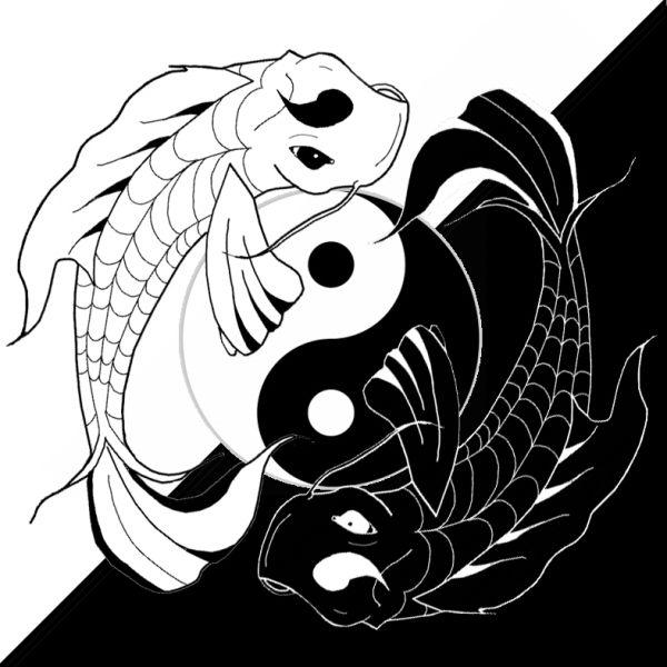 Drawings of koi fish ying yang koi fish by benjiprice for Koi connect