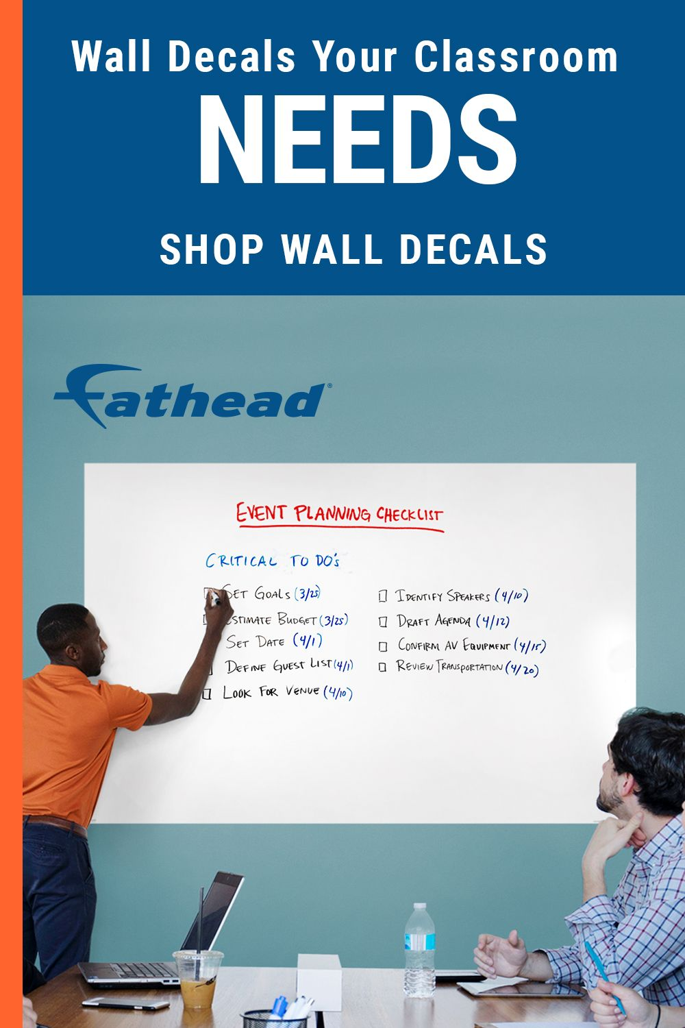Peel and stick whiteboard wall decals are easy to order online now