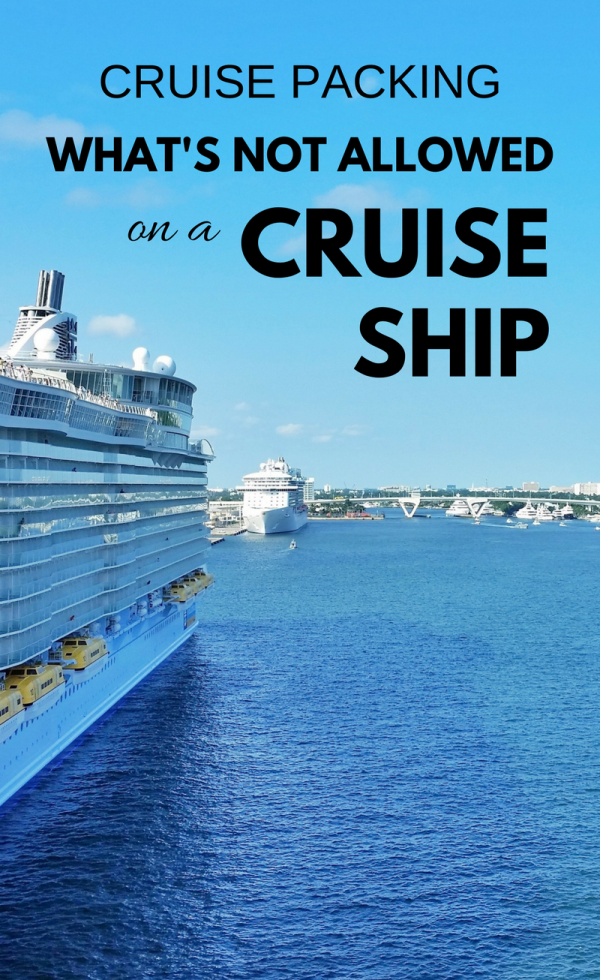 What NOT To Pack For A Cruise :: Cruise Packing Tips In