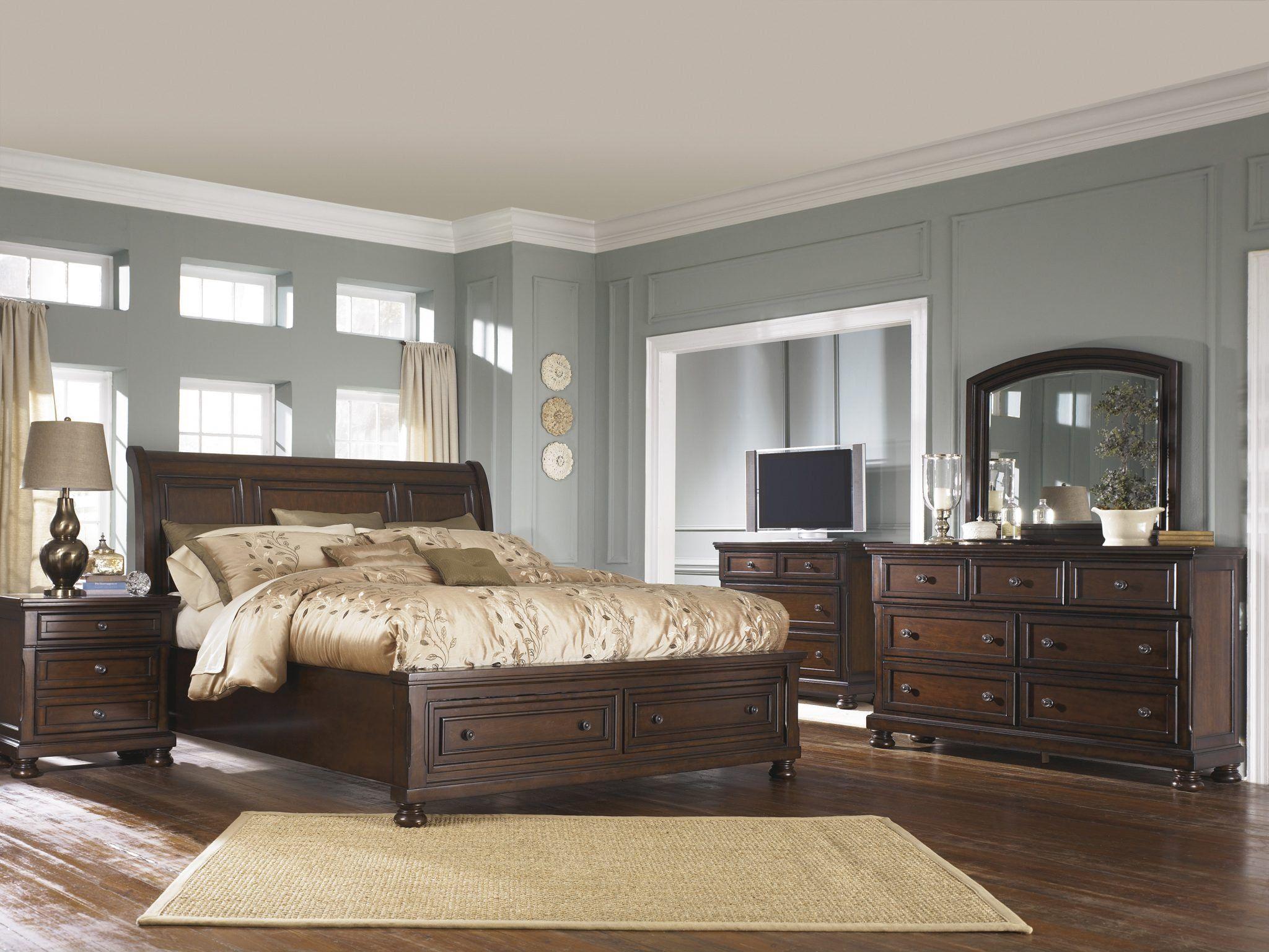 Ashley Furniture Bed Frames | Brown wood bedroom, Bedroom ...