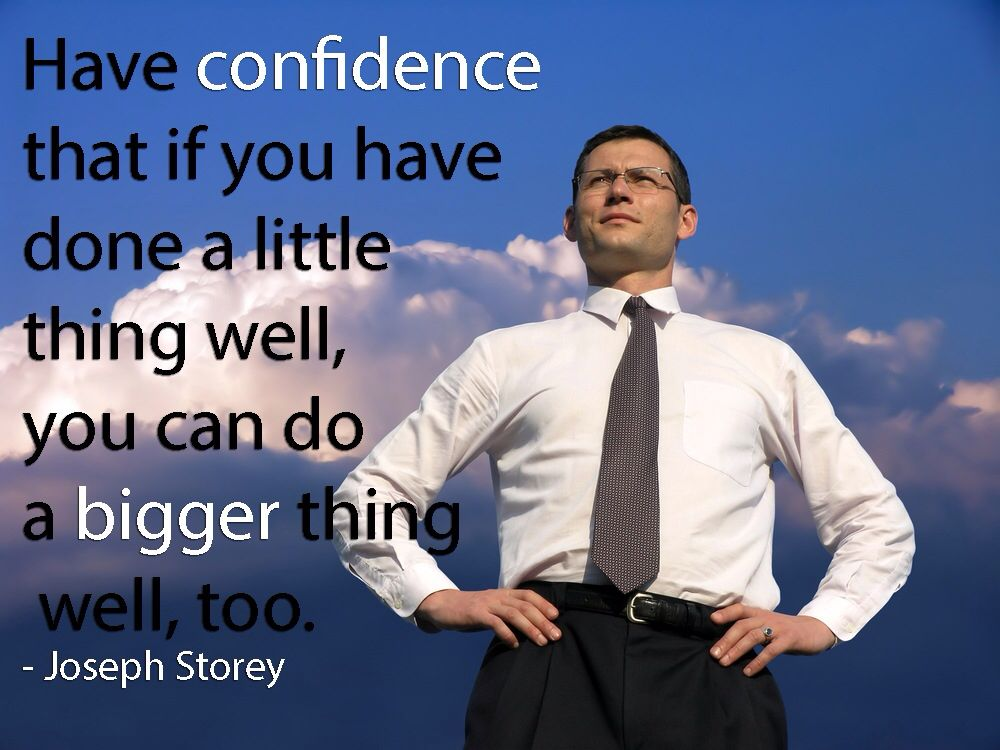 How will you stretch your comfort zone? Be confident in