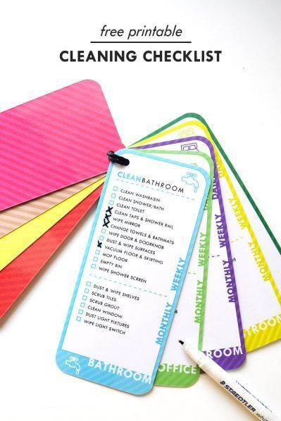 Cleaning Checklist – Free Printable