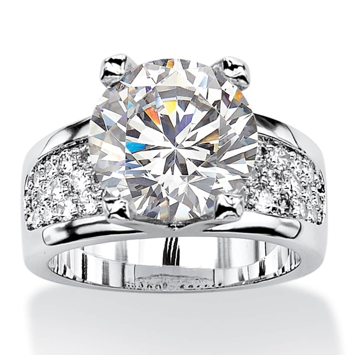 Overstock Com Online Shopping Bedding Furniture Electronics Jewelry Clothing More Silver Engagement Rings Cubic Zirconia Engagement Rings Cubic Zirconia Jewelry