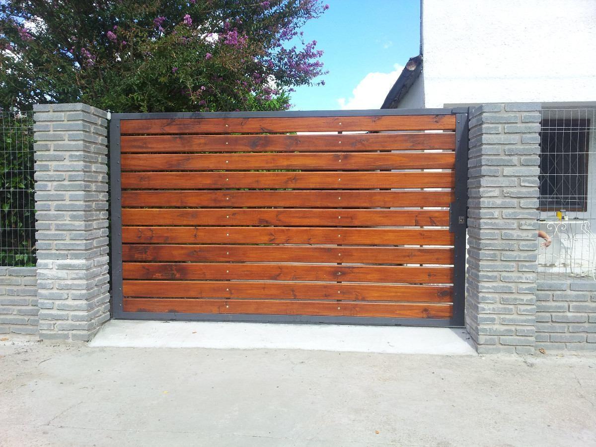 Resultado de imagen para portones de madera loco for Portones de hierro para garage