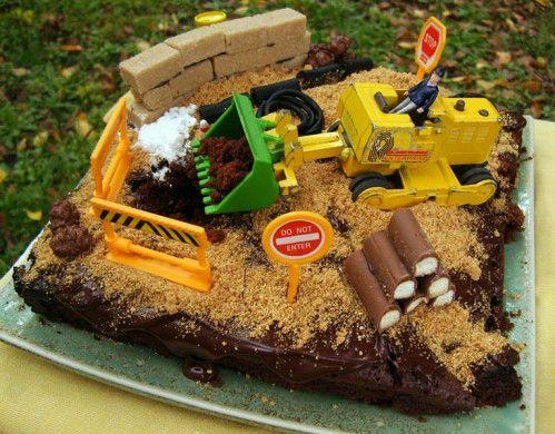 Le g teau en chantier g teau d 39 anniversaire pour les - Tracteur rigolo ...