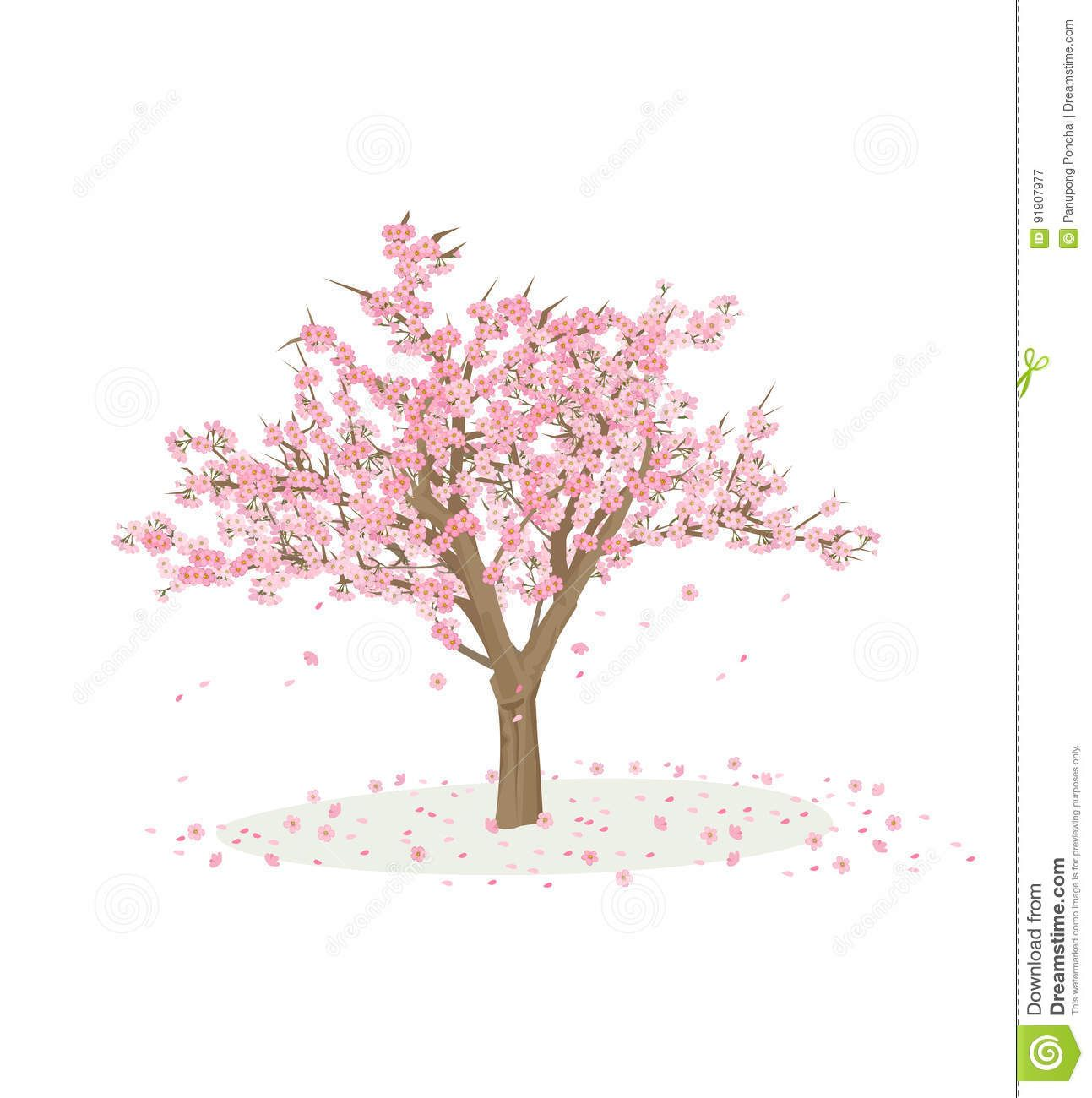 Cherry Blossom Tree Cartoon Google Search Blossom Trees Cherry Blossom Tree Cherry Blossom