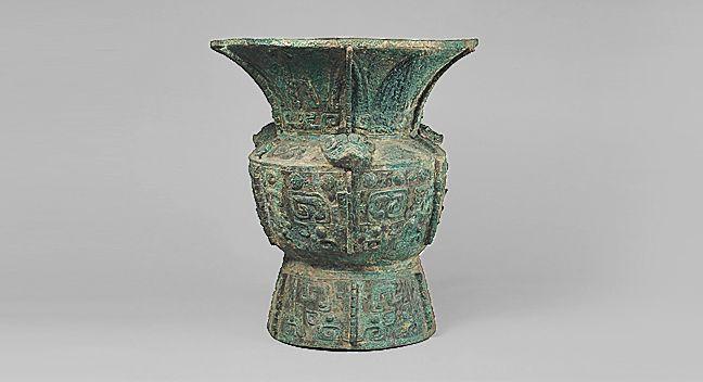 饕餮文尊 とうてつもんそん 中国・殷時代 前13〜12世紀 青銅 1個 高54.0cm 口径48.1cm 底径30.5cm