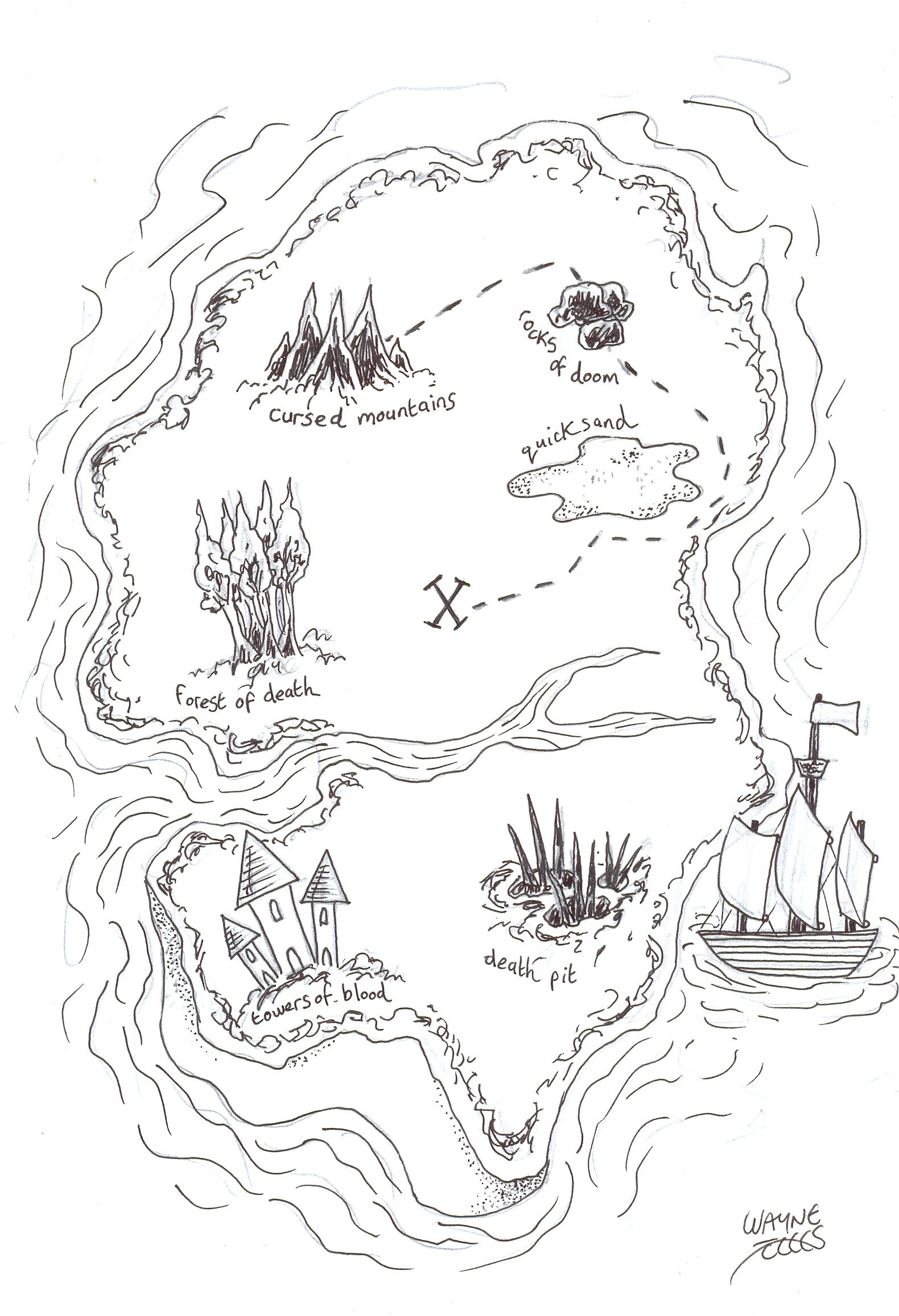 How To Draw A Pirate Treasure Map Pirate Treasure Maps Pirate