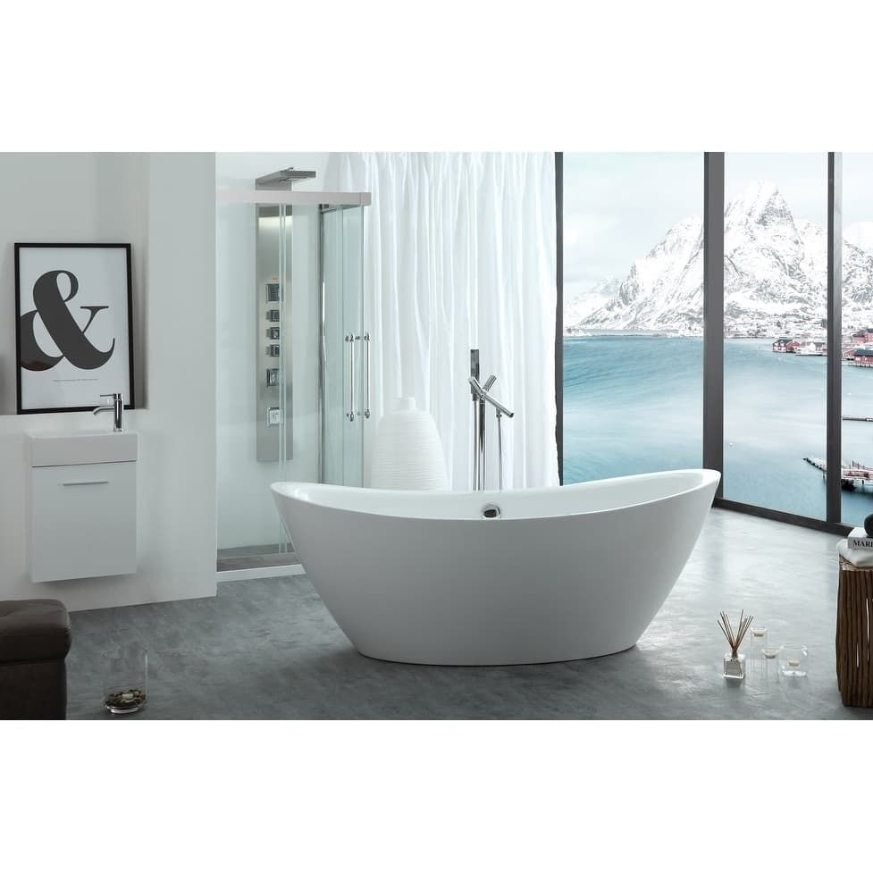 Virtu USA Serenity 71 Freestanding Soaking Bathtub Only | Soaking ...