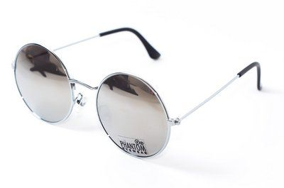 Óculos de Sol feminino phantom redondo tamanho médio espelhado estilo john  lennon 7052035d71
