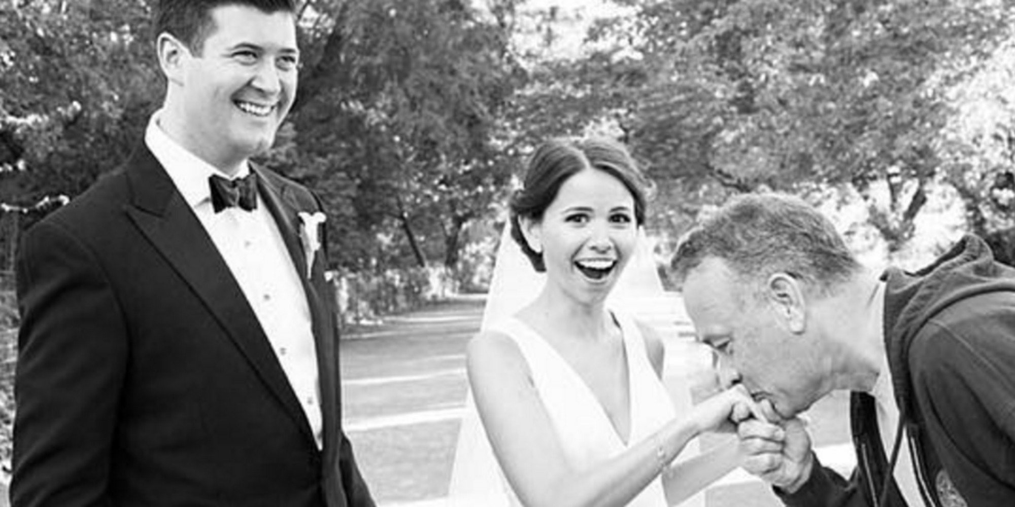 Gets Surprise When Tom Hanks Crashes Their Wedding Photos