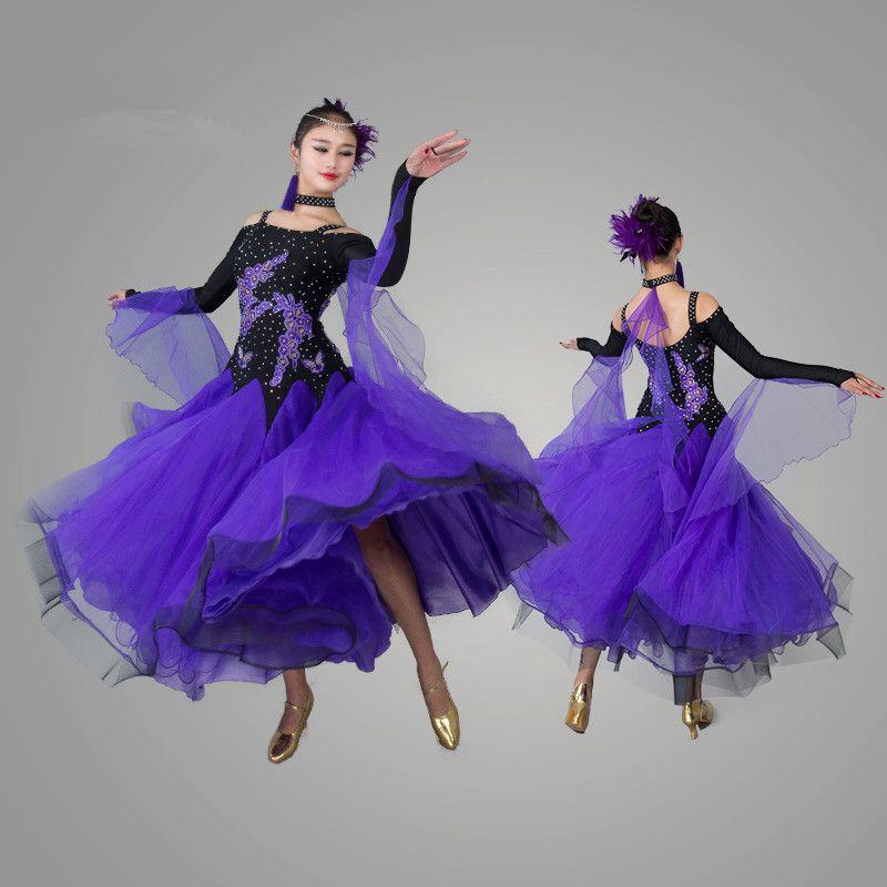Pas cher 2016 standard salle de bal robe robes de concours de danse valse robe danse - Robe de danse de salon pas cher ...