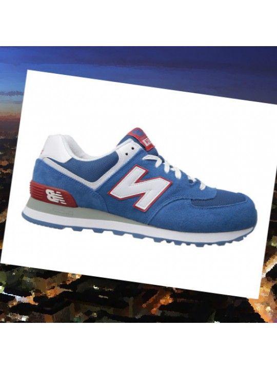 f75e2f8473a17 New Balance Classics M574 - Chaussures - Bleu, Bordeaux, Gris, Blanc JkExeh