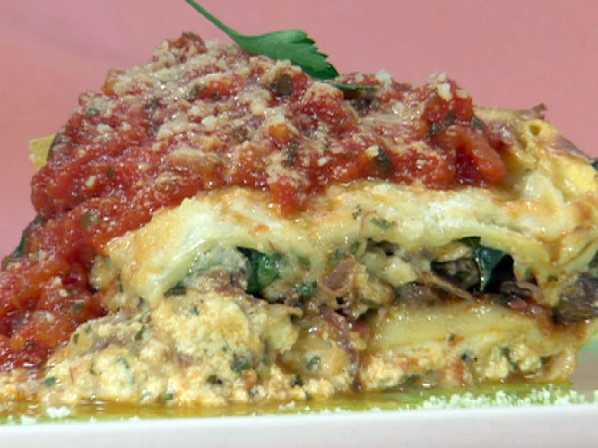 Lasagna recipe bobby bechamel and ricotta lasagna recipe from bobby flay via food network w bechamel ricotta forumfinder Image collections