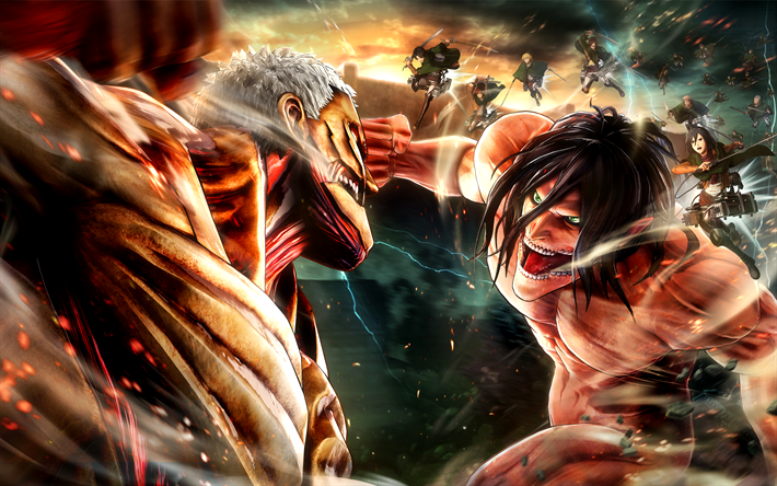 Wallpaper 4k Attack On Titan Ideas Shingeki No Kyojin Gambar Anime Attack On Titan