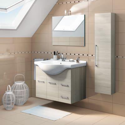 Mobile bagno Ginevra rovere grigio L 81 cm Vanity, Bathroom