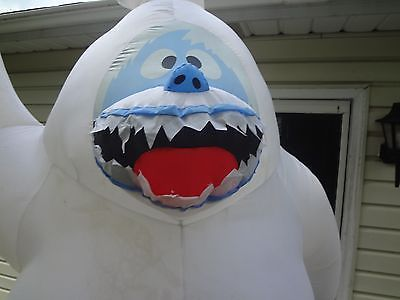 Gemmy airblown inflatable 8ft bumble abominable snowman for Abominable snowman christmas decoration