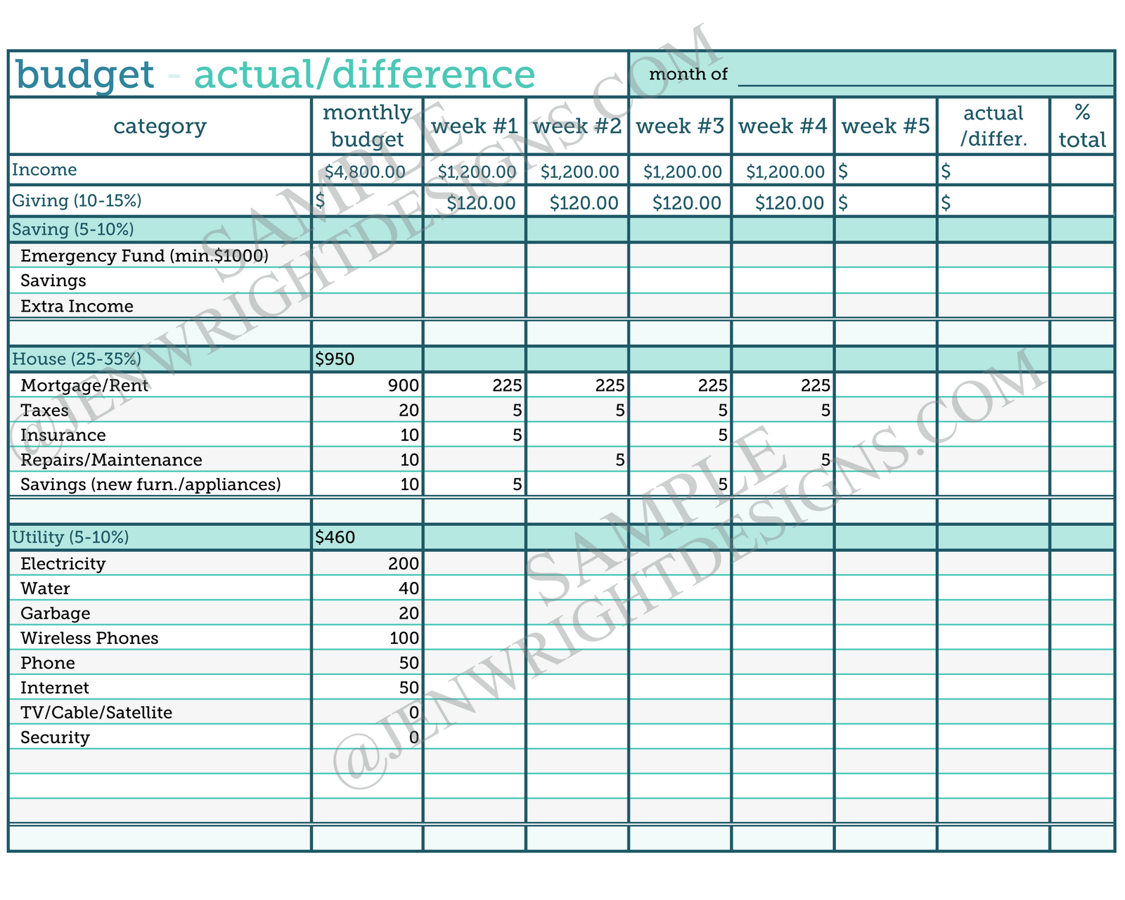New Free Household Budget Template Xls Xlsformat