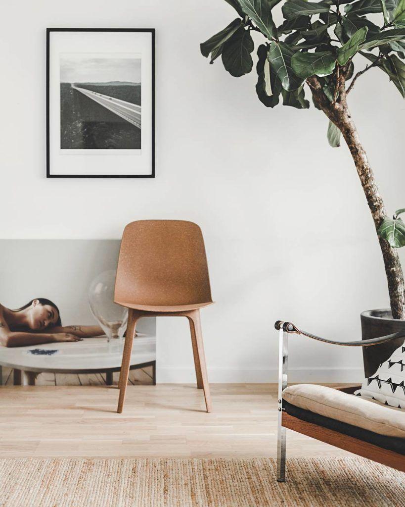 Ikea Stuhl Wohnen Einrichten Interior Wohnzimmer Braun Naturtöne Weiß  Zimmerpflanze Dekorieren