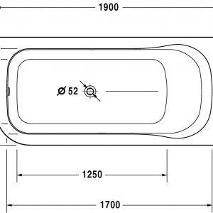 standard bathtub size jacuzzi
