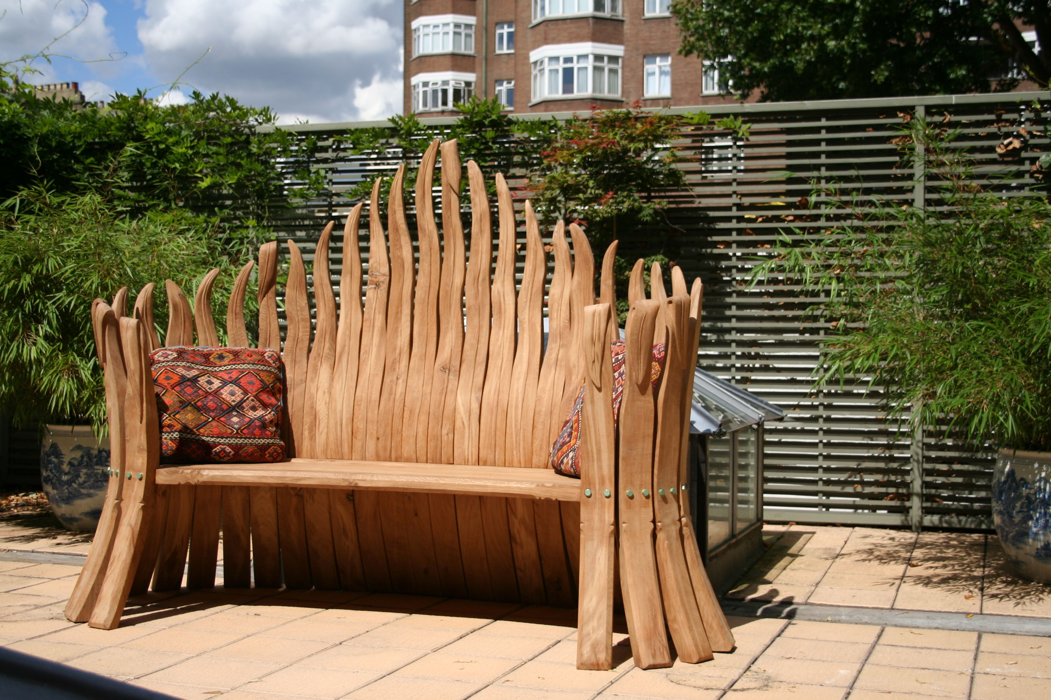 Bull Rush garden bench designed and made by Lillyfee ...
