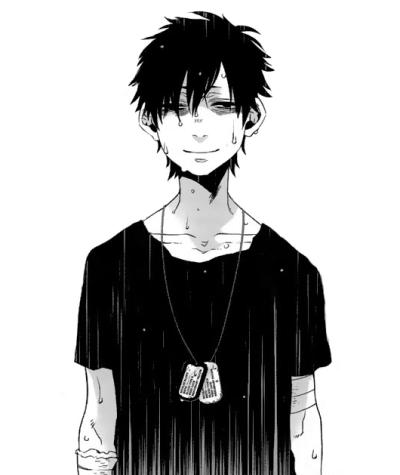 such a sad smile gangsta pinterest anime anime masculino