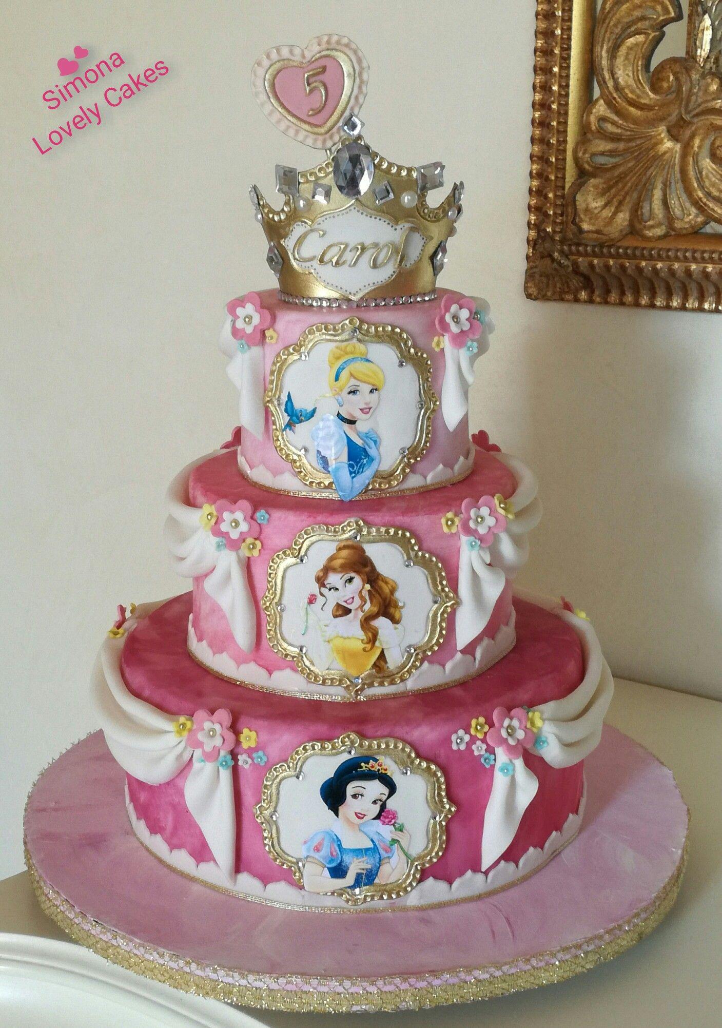 Disney Princesses Cake Torta Principesse Disney Princess