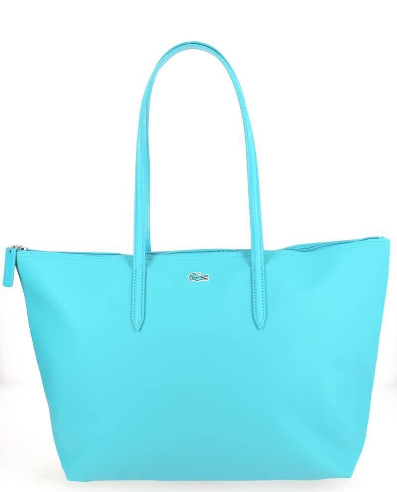 grand sac shopping lacoste turquoise nouvelle collection sacs femme printemps t 2016. Black Bedroom Furniture Sets. Home Design Ideas