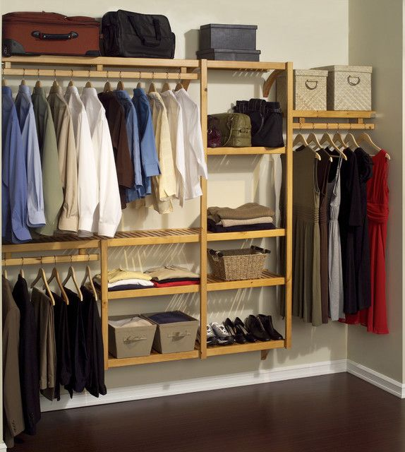 Organize Your Closet In Style With This John Louis Home Standard Closet  Shelving System. Made From Solid Wood With A Honey Maple Finish And  Offering ...