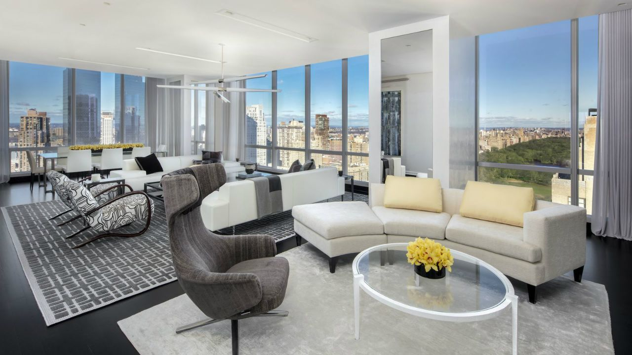 Luxurious turnkey apartment with view over Central Park, One57 real estate company #interdema #turnkeyapartments #luxury #apartment #NewYork #люкс #квартира