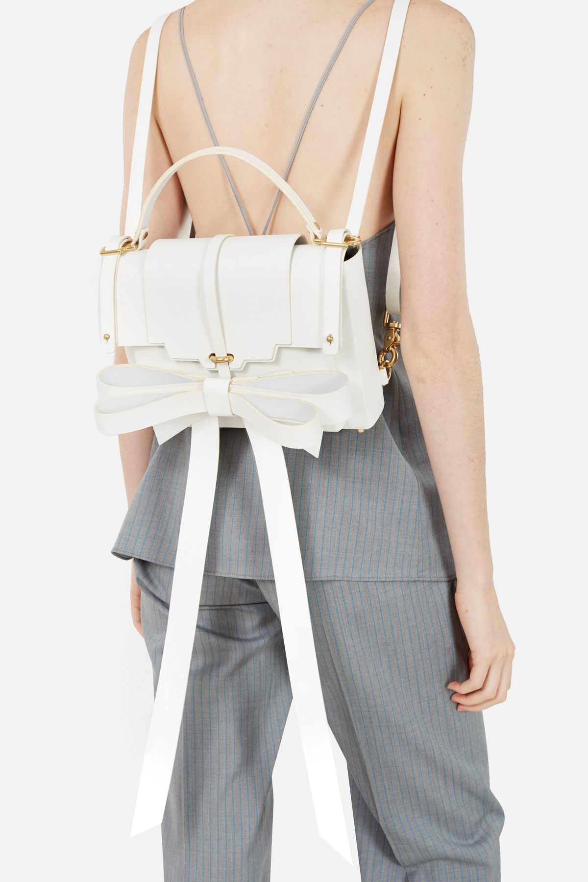 Niels Peeraer SMALL RIBBON LEATHER BACKPACK sUJfRzJf