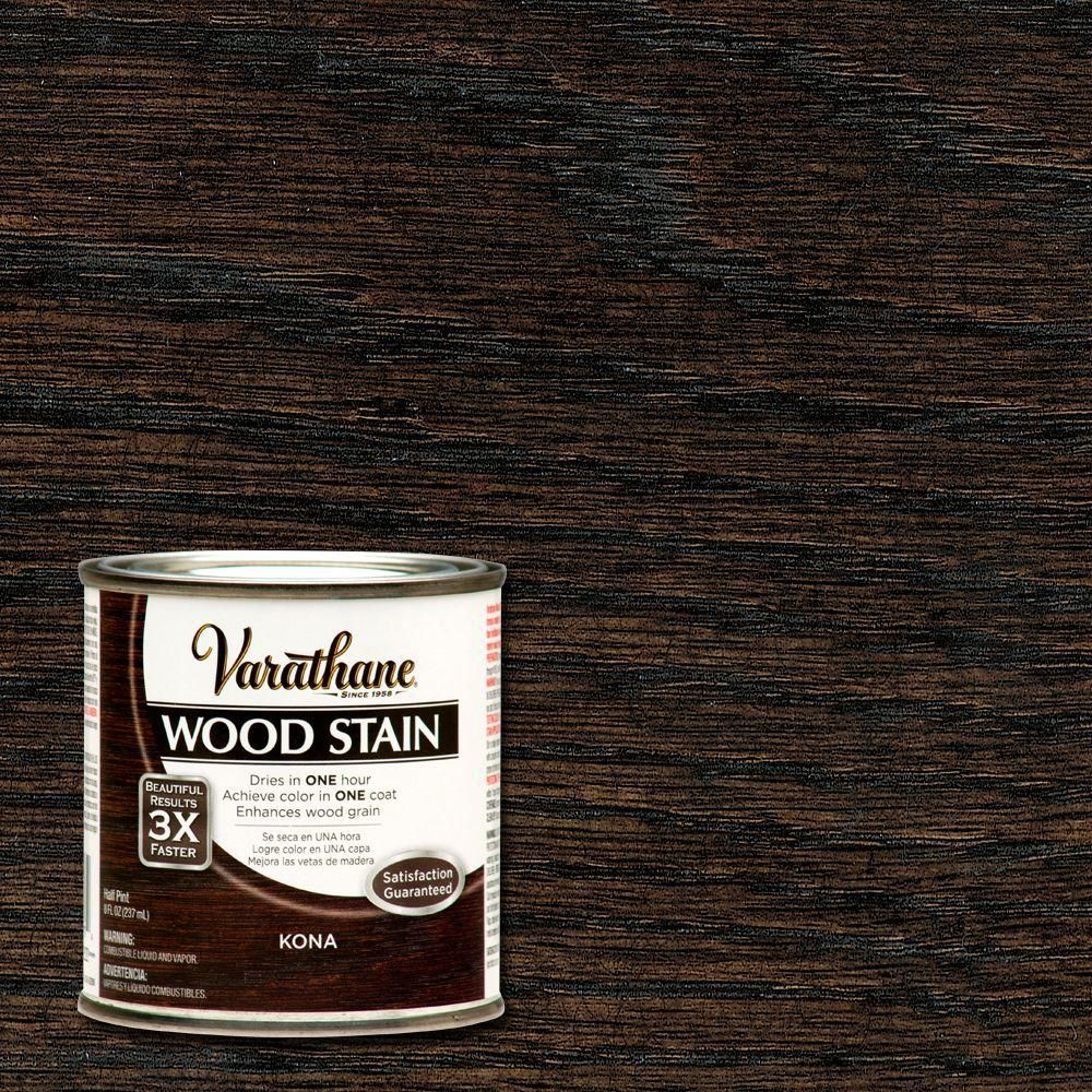 Varathane 8 Oz Kona Premium Fast Dry Interior Wood Stain 266195 The Home Depot Staining Wood Interior Wood Stain Diy Wood Stain