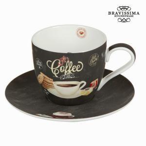 Chávena com pires time - Kitchen's Deco Coleção by Bravissima Kitchen - Imagen 1