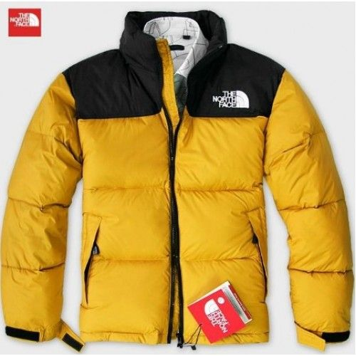 8b88f6b52fe0  139.00 North Face Down Mens Jacket Yellow Black