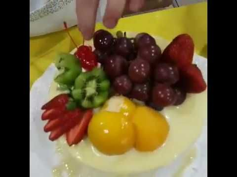 Bolo De Frutas Ensinando O Recheio De Mousse De Nata Youtube