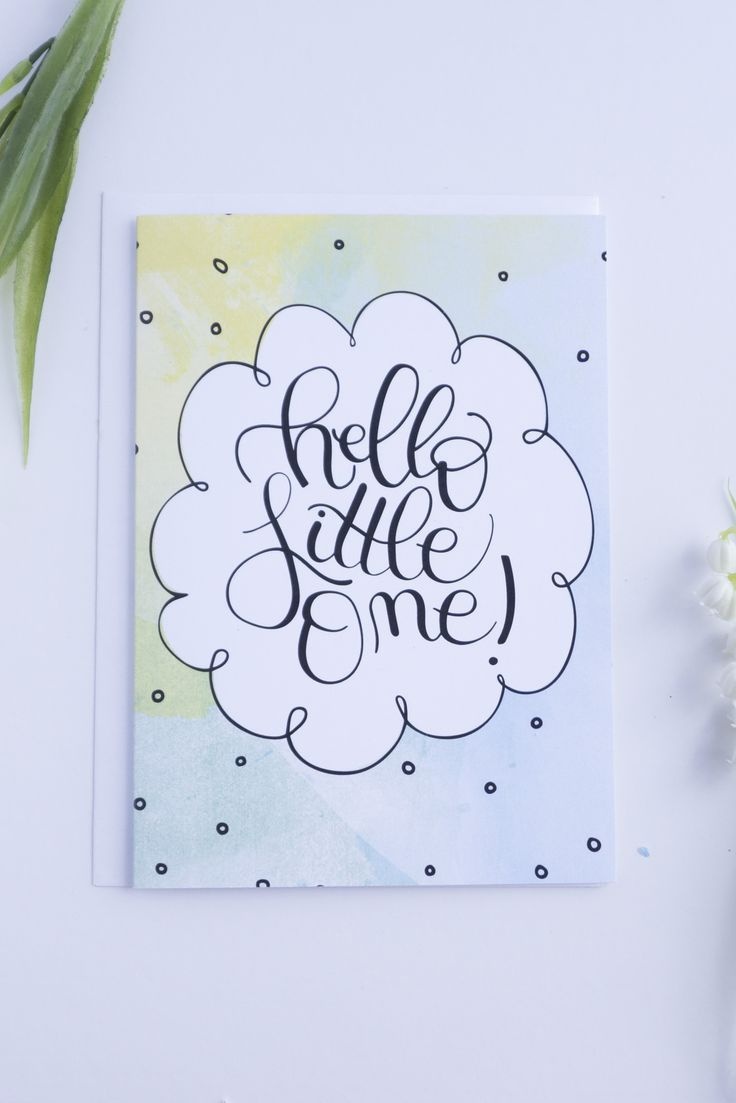 New baby card hello little one a7 card for baby baby