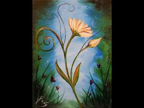 La Fleur Step By Step Acrylic Painting On Canvas For Beginners