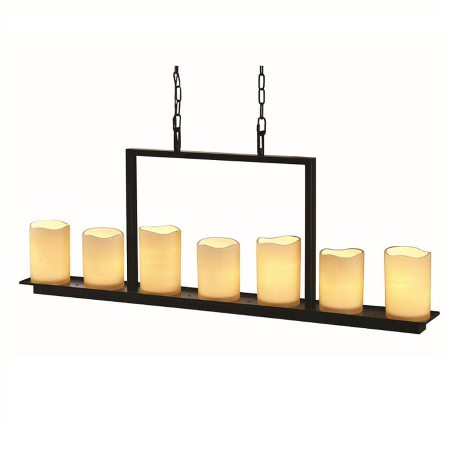 allen + roth Harpwell Oil-Rubbed bronze Mediterranean Tinted Glass Shaded  Chandelier at Lowe's. The allen + roth Harpwell is In. The glass shades  produce a ... - Allen + Roth Harpwell 4.53-in 7-Light Oil-Rubbed Bronze